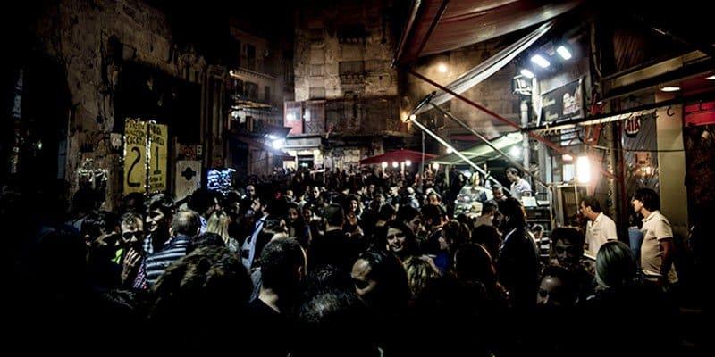 the outdoor market La Vucciria