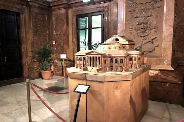 scale model of Teatro Massimo