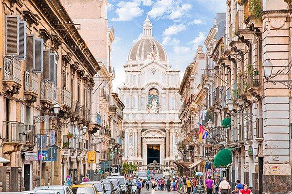 Corso Italia in Catania