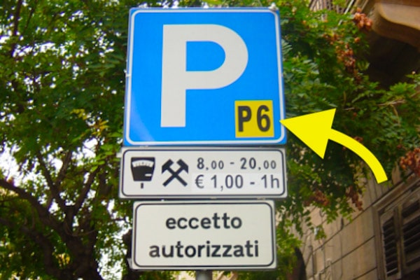 blue parking zones Palermo