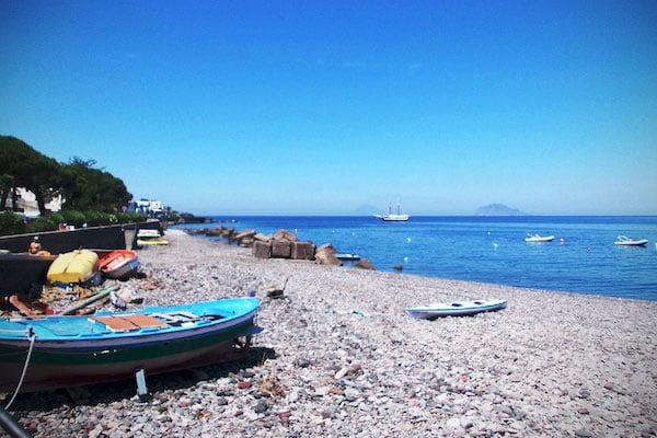 Santa Marina Beach in Salina
